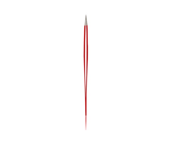 Eyelash Tweezers Pointed Red